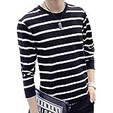 [ラクサス] トップス ロンT 長袖 Tシャツ セーター ボーダー ラウンドネック 厚手 秋冬 カジュアル メンズ