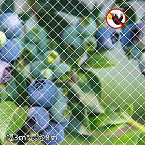 ベランダ 防鳥ネット 3×8m 鳥よけネット カラス 鳩 鳥害対策 防鳥防獣網 鳥除け 透明色ネット Xiaz(結束バンド15本と日本語取り付け説明書付き)