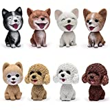 Comidox Handmade Childhood Memory BobbleHead Dogs Car Dash Puppy for Car Vehicle Decoration Rocking Head Dog Made by Superior Natural Resin