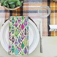 artzfolioクリスマスCurlsテーブルナプキンサテン生地 20inch x 20inch; SET OF 4 PCS AZKIT18904587NAP_TB_L_02-S4_SK