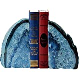 Agate Bookend Dyed Blue Polished 1 Pair - 3 to 4 Lbs JIC Gem
