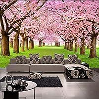 Xbwy 写真の壁紙3Dステレオカスタム桃の花テレビの壁の背景壁画リビングルームのロビー高Qulity壁紙-200X140Cm