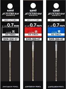 三菱鉛筆 ボールペン替芯 ジェットストリームプライム 0.7 多色多機能 3色 SXR20007