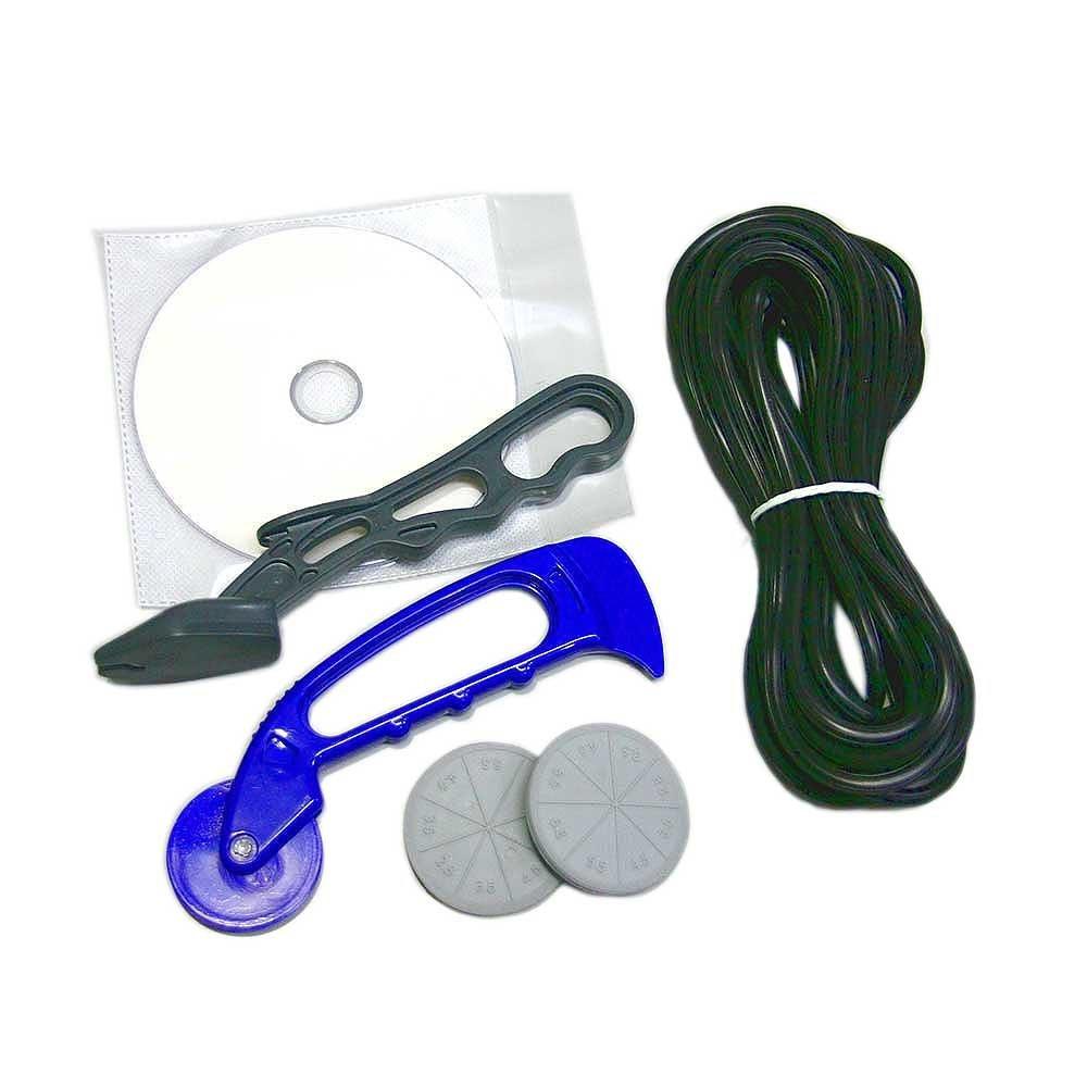 ダイオ化成 アルミ網戸 張り替え用品 5点セット ゴム色 ブロンズ/ブラック(長さ約7m×1本)