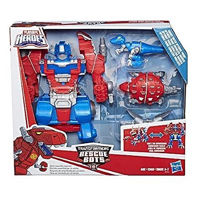 "Playskool Heroes - 10"" Transformers Rescue Bots Optimus Prime Figurine - Ages 3+"