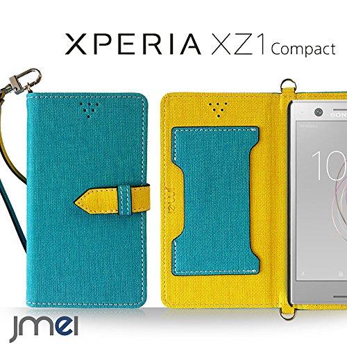 Xperia XZ1 Compact ケース SO-02K手帳型 エクスペリア xz1 コンパクト カバー ブランド 手帳 閉じたまま通話ケース VESTA ブルー Sony ソニー simフリー スマホ カバー 携帯ケース 手帳型 スマホケース 全機種対応 ショルダー スマートフォン