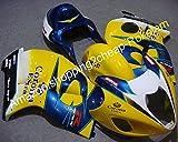 フェアリングGSXR1300はやぶさHayabusa GSXR 1300 1999-2007 GSX-R 1300 99 00 01 02 03 04 05 06 07コロナオートバイイエローブルーホワイトブラック (射出成形)