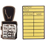 Out of Print Library Card and Stamp Enamel Pin Set