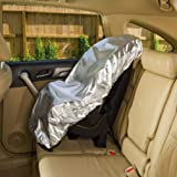 Largesoy Largesoy チャイルドシート保護カバー チャイルドシートプロテクター 座席保護 防塵 サンカバー 紫外線カット 温度抑え 遮熱 断熱 シート収納カバー