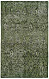 Kaleen Rugs Restoration Collection RES01-50 Green Hand-Knotted 5'6 x 8'6 Rug [並行輸入品]
