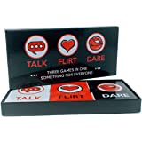 Fun and Romantic Game for Couples: Date Night Box Set with Conversation Starters, Flirty Games and Cool Dares - Choose from T