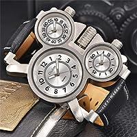 93c5dc7183 ShoppeWatchメンズビッグフェイス腕時計トリプルタイム表示クォーツ ...