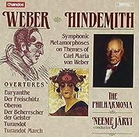 Weber: Overtures/ Hindemith: Symphonic Metamorphoses on a Theme by Weber by DVORAK / MARTINU; (1992-05-05)