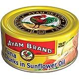 Ayam Brand Tuna Chunks in Sunflower Oil   Wild Caught Premium Tuna   Fine Flakes   Omega 3, Vitamin E, B6 & B12   Halal & Hea