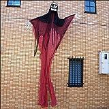 ハロウィンビッグ装飾 ホラーハンギング レッドカーテン 高さ360cm  23800