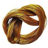 ノーブランド品  耐久性 文字列 メタリック 手芸用 ジュエリー作り 三つ編み コード 組紐 糸 100ヤード 金
