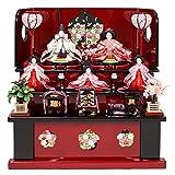 雛人形 収納飾り 3段飾り ひな人形 5人飾り 三段飾り お雛様 初節句飾り お祝い コンパクト ミニ