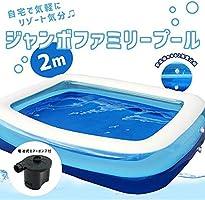 大家庭游泳池电动充气泵带