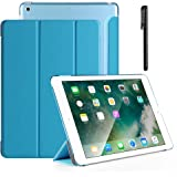 TERSELY Case for iPad 9.7 (2017/2018 Model 5th/6th) /ipad Air 1 /ipad Air 2 with Touchscreen Pen/Stylus, Smart Cover with Aut