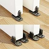 HomeDeco Hardware Adjustable Sliding Barn Door Hardware Door Bottom Floor Guide Plastic Limit The Door with Screws (2set)