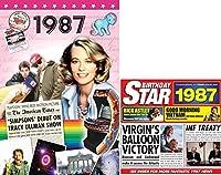 1987 Birthday Gifts Set - 1987 DVD Film , 1987 Chart Hits CD and 1987 Birthday Card
