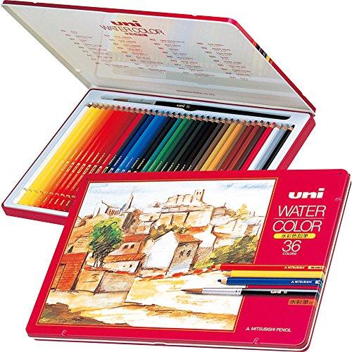 三菱鉛筆 ユニウォーターカラー水彩色鉛筆 36色セット