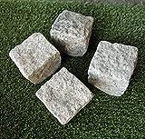 Amazon.co.jpピンコロ 石材 ベージュホワイト 御影石 (1個) ガーデニング 舗石