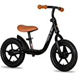 """JOYSTAR 10""""/12"""" Kids Balance Bike with Footrest for Girls & Boys, Ages 18 Months to 5 Years, Toddler Training Bike with Airle"""
