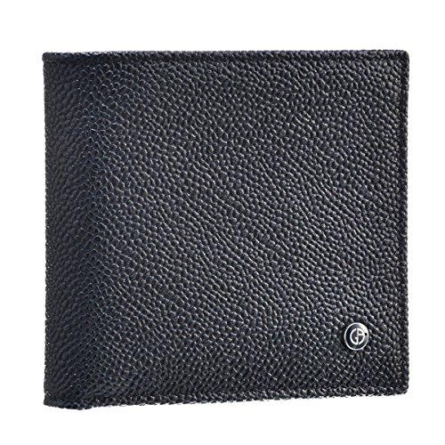 Giorgio Armani(ジョルジオアルマーニ) 財布 メンズ 型押しカーフスキン 2つ折り財布 ネイビー Y2R122-YCR3J-80132 [並行輸入品]