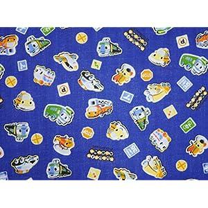コスモテキスタイル くるりんくるま ダブルガーゼ AP5100 約110cm巾×1mカット col.3