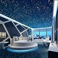 3次元立体星空の壁紙 天井 寝室 部屋 テレビ シームレスな背景の壁に壁画を生活の大きな紙を (Color 4)