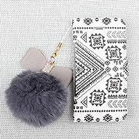 【Batianda】iPhone6/iPhone 6S ケース スタンド機能 マグネットケース 手帳型 カードポケット付き 黒白ライン柄 PUレザー 携帯カバー(P060-8)