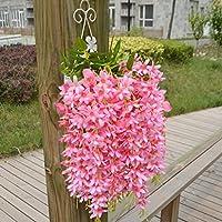 PETSOLA 人工ライラックの花 造花 綺麗な花 背景装飾 明るい色 家の装飾 - ピンク
