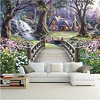 Weaeo モダンな壁紙ヨーロッパのファンタジー世界の森の庭カスタム写真の壁の紙の壁画子供の部屋の壁画壁の壁紙-200X140Cm