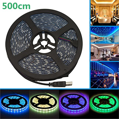 5M LED テープライト、LHYAN LEDテレビバックラ...