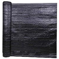 サンシェード・シェルター グロメットの軽量の日焼け止めブロックの生地が付いている日曜日の陰の布のパーゴラのおおいを厚くする95%の陰の網の防水シートの暗号化 (Color : Black, Size : 19.8x165ft/6x50m)