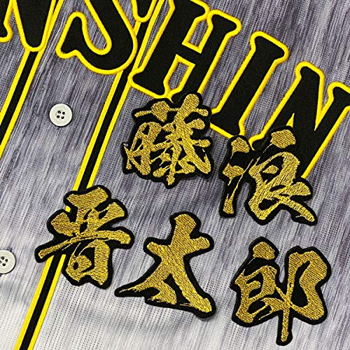 阪神 タイガース 刺繍ワッペン 藤浪 晋太郎 毛筆 名前 ユニフォーム 応援