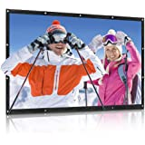 QKK Projector Screen 100inch 16:9 Front and Rear Projection Screen Portable Simple Mounted Screen Curtain for Home Theater, M