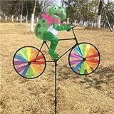 Bullfrog : Hot Selling Cute 3D Animal On Bike Windmill Wind Spinner Whirligig Garden Lawn Yard Decor Aug25