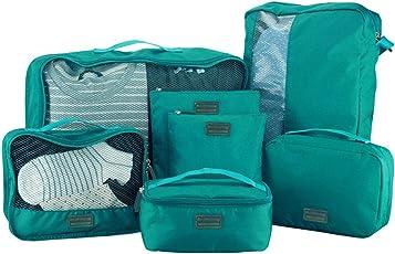 クロース(Kroeus)トラベルポーチ アレンジケース 7点セット 旅行 出張 衣類ケース シューズバッグ 洗面用具入れ PC周辺小物ポーチ 巾着袋