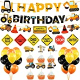 Construction Birthday Party Supplies Dump Truck Party Decorations Kits Cars Trucks Birthday Sign With Garland For Kids Birthday Party Construction Theme Party