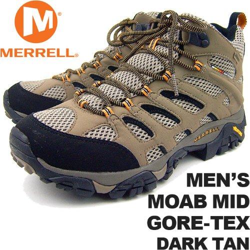 DARK TAN US9.5(27.5cm) メレル メンズ モアブミッドゴアテックス ダークタン MERRELL MEN'S MOAB MID GORE-TEX DARK TAN J87311 男性用 トレッキングシューズ 登山用