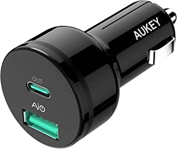 AUKEY カーチャージャー 急速充電 最大39W PD対応+USB-A スマホ充電器 Car Charger iPhone/iPad/Galaxy/Xperia その他Android各種対応対応 CC-Y7