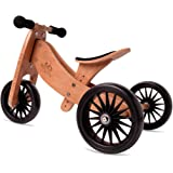 Kinderfeets TinyTot Plus 2-in-1 Wooden Balance Bike and Tricycle - Easily Convert From Bike to Trike | Sustainable and Eco-Fr