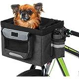 Lixada1 Bicycle Front Basket Foldable Removable Bike Pet Basket Pet Dog Cat Rabbit Carrier Camping Tote Bag