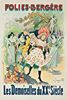 Folies–Bergere–Les Demoiselles Du Xxe siecleposter (アーティスト: Trinquier Trianon )フランスC。1899 24 x 36 Giclee Print LANT-60950-24x36