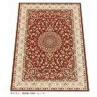 高級品ウィルトン織り ウール柄じゅうたん サルマン レッド 240X240 4.5畳用