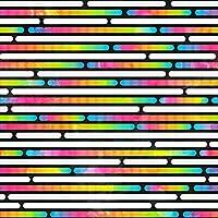 ポスター ウォールステッカー 正方形 シール式ステッカー 飾り 30×30cm Ssize 壁 インテリア おしゃれ 剥がせる wall sticker poster カラフル レインボー 模様 009598