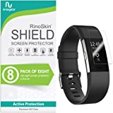 (8-Pack) RinoGear Screen Protector for Fitbit Charge 2 Case Friendly Fitbit Charge 2 Screen Protector Accessory Full Coverage