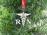 Best CustomGiftsNow CNAS - 看護婦クリアアクリルクリスマスオーナメント–Great Gift for a CNA、RN、LPNナース、看護学生または授乳Graduate Review